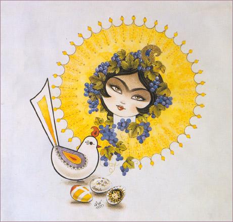 Soroush Sabzi .com - Miniature Painting - Iranian Woman  Soroush Sabzi ....